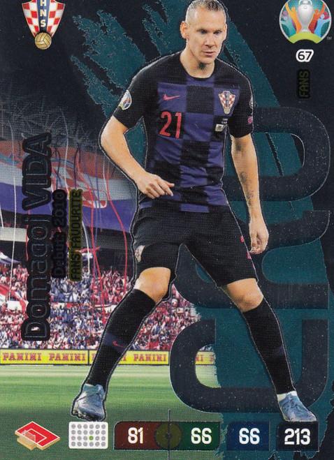 #67 Domagoj Vida (Croatia) Adrenalyn XL Euro 2020 FANS FAVOURITE