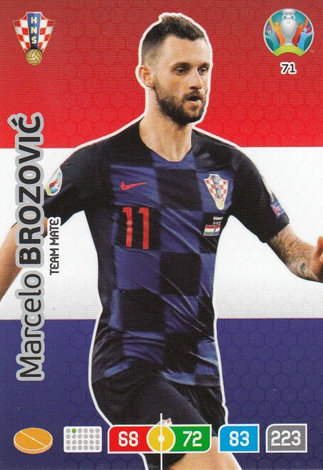 #71 Marcelo Brozovic (Croatia) Adrenalyn XL Euro 2020