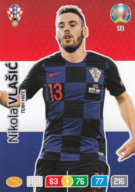 #72 Nikola Vlasic (Croatia) Adrenalyn XL Euro 2020