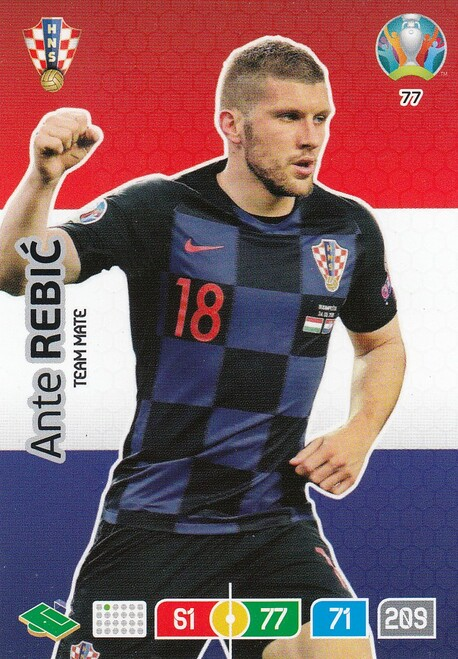 #77 Ante Rebic (Croatia) Adrenalyn XL Euro 2020