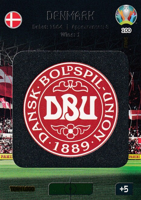 #100 Denmark Logo Adrenalyn XL Euro 2020