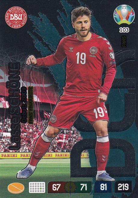 #103 Lasse Schone (Denmark) Adrenalyn XL Euro 2020 FANS FAVOURITE