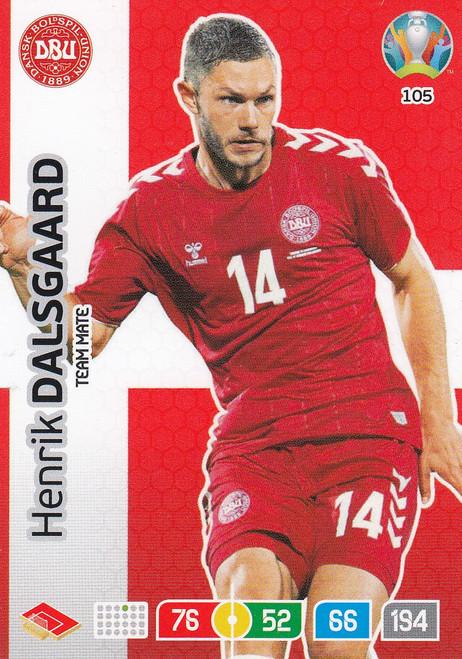 #105 Henrik Dalsgaard (Denmark) Adrenalyn XL Euro 2020