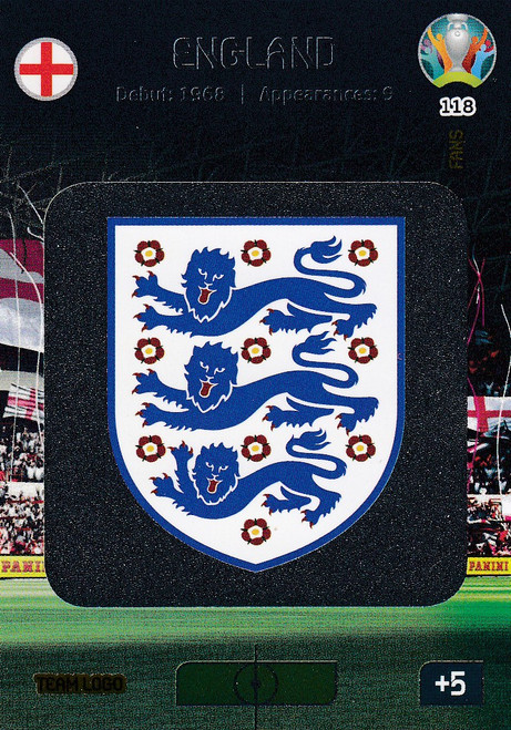 #118 England Logo Adrenalyn XL Euro 2020