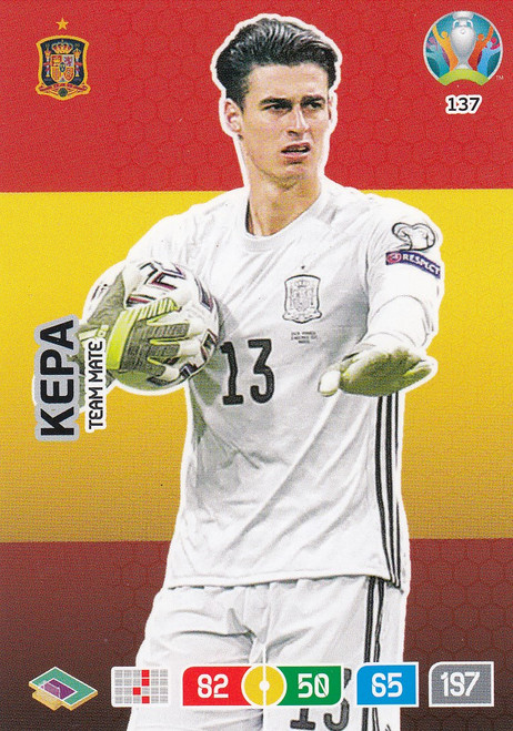 #137 Kepa (Spain) Adrenalyn XL Euro 2020