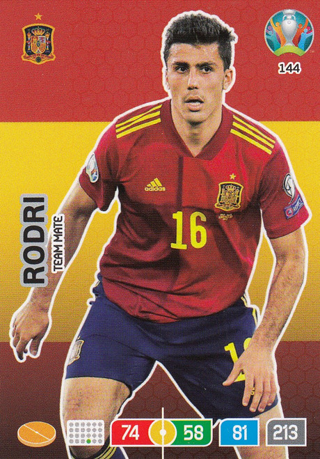#144 Rodri (Spain) Adrenalyn XL Euro 2020