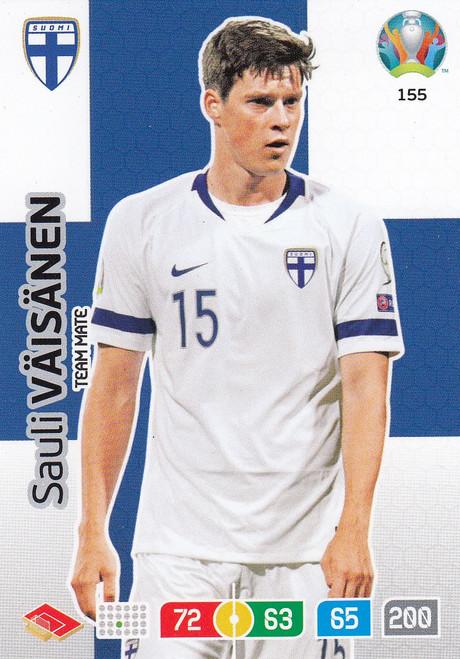 #155 Sauli Vaisanen (Finland) Adrenalyn XL Euro 2020