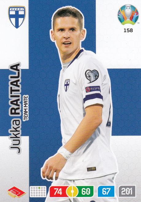 #158 Jukka Raitala (Finland) Adrenalyn XL Euro 2020