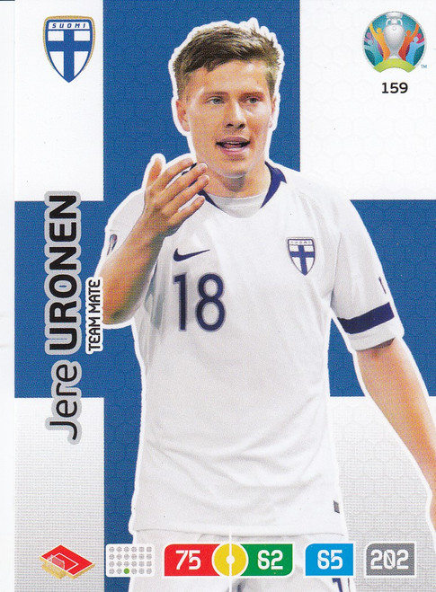 #159 Jere Uronen (Finland) Adrenalyn XL Euro 2020