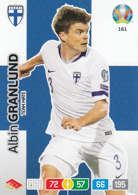 #161 Albin Granlund (Finland) Adrenalyn XL Euro 2020
