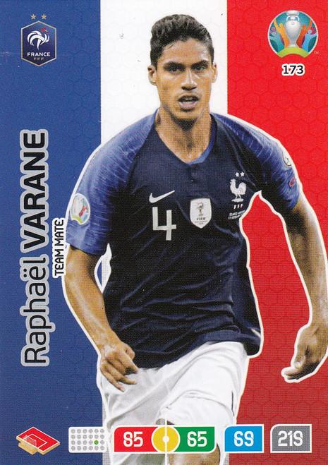 #173 Raphael Varane (France) Adrenalyn XL Euro 2020