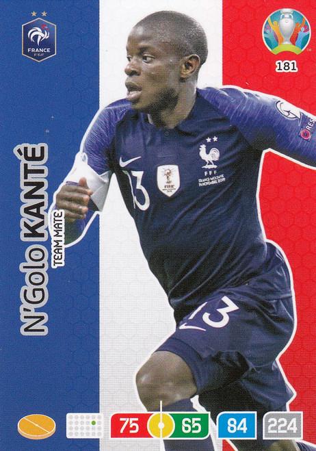 #181 N'Golo Kante (France) Adrenalyn XL Euro 2020
