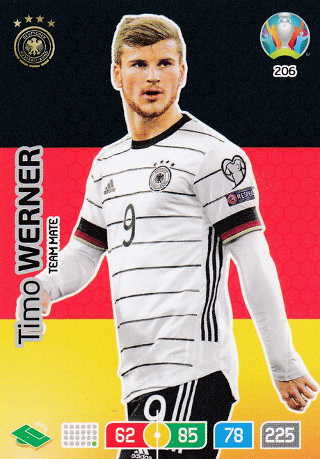 #206 Timo Werner (Germany) Adrenalyn XL Euro 2020