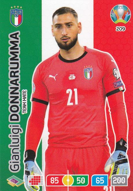 #209 Gianluigi Donnarumma (Italy) Adrenalyn XL Euro 2020