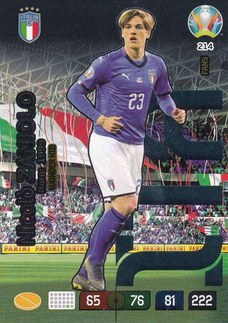 #214 Nicolo Zaniolo (Italy) Adrenalyn XL Euro 2020 WONDER KID