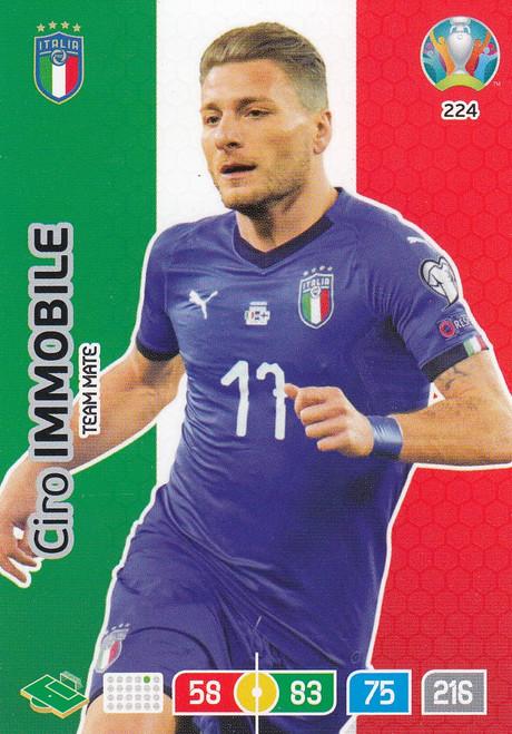 #224 Ciro Immobile (Italy) Adrenalyn XL Euro 2020
