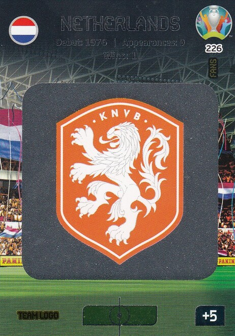 #226 Netherlands Logo Adrenalyn XL Euro 2020
