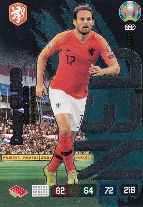 #229 Daley Blind (Netherlands) Adrenalyn XL Euro 2020 FANS FAVOURITE