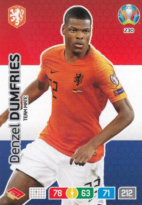 #230 Denzel Dumfries (Netherlands) Adrenalyn XL Euro 2020