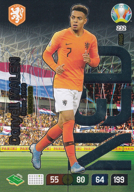 #232 Donyell Malen (Netherlands) Adrenalyn XL Euro 2020 WONDER KID