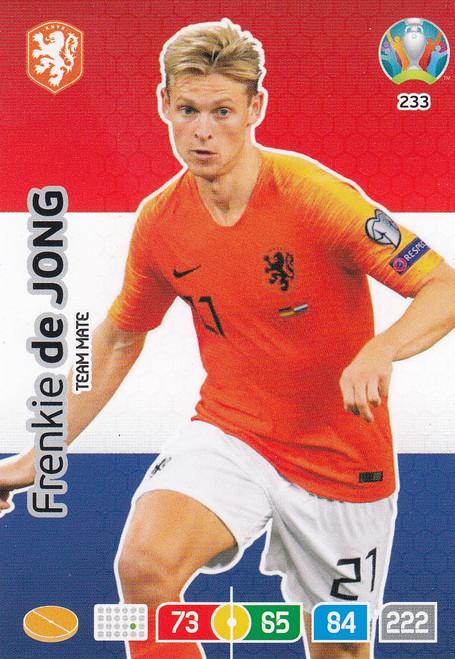 #233 Frenkie De Jong (Netherlands) Adrenalyn XL Euro 2020