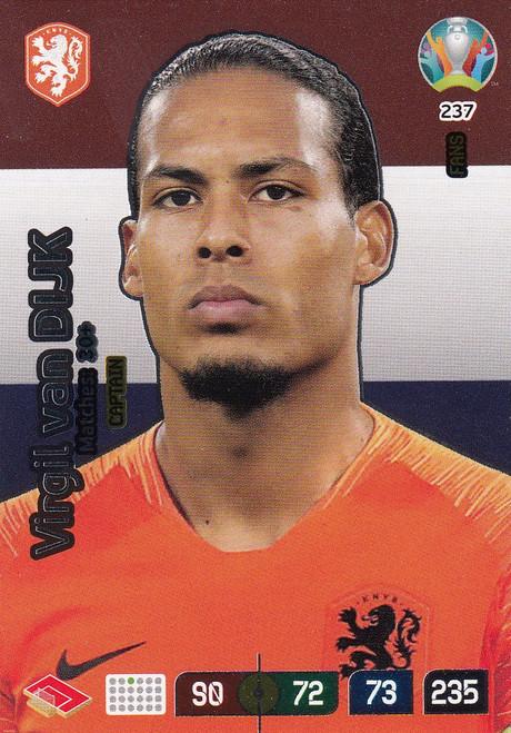 #237 Virgil Van Dijk (Netherlands) Adrenalyn XL Euro 2020 CAPTAIN