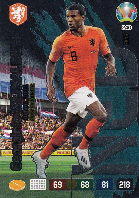 #240 Georginio Wijnaldum (Netherlands) Adrenalyn XL Euro 2020