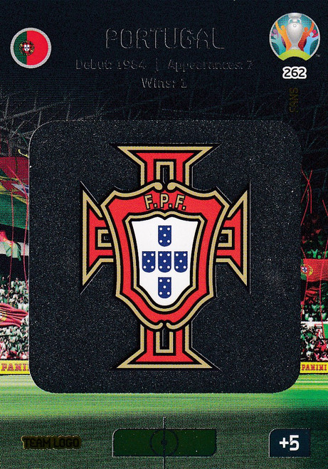 #262 Portugal Logo Adrenalyn XL Euro 2020