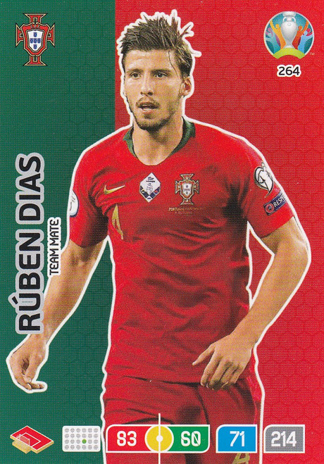 #264 Ruben Dias (Portugal) Adrenalyn XL Euro 2020