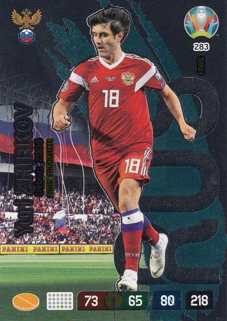 #283 Yuri Zhirkov (Russia) Adrenalyn XL Euro 2020 FANS FAVOURITE