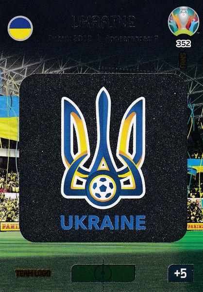 #352 Ukraine Logo Adrenalyn XL Euro 2020