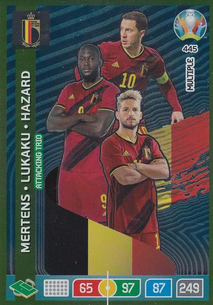 #445 Belgium Adrenalyn XL Euro 2020 MULTIPLE - ATTACKING TRIO