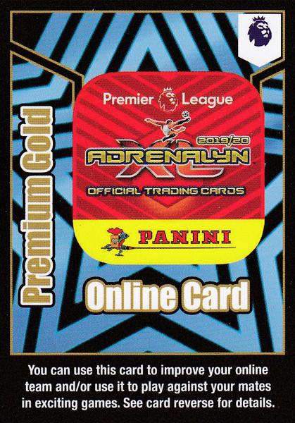 Premium Gold Online Card (200 points) Adrenalyn XL Premier League 2019/20 LIMITED EDITION