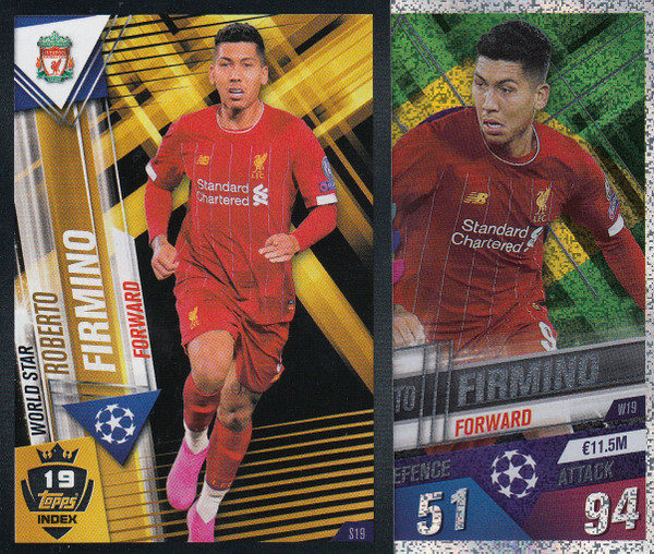 #W19 Roberto Firmino (Liverpool FC) Match Attax 101 2019/20