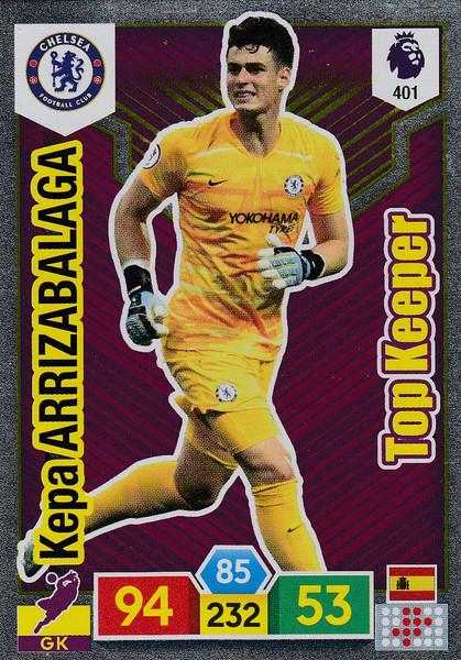 #401 Kepa Arrizabalaga (Chelsea) Adrenalyn XL Premier League 2019/20 TOP KEEPER