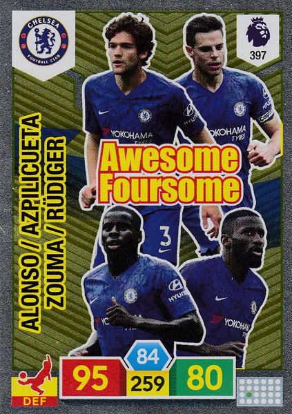 #397 Chelsea Adrenalyn XL Premier League 2019/20 AWESOME FOURSOME