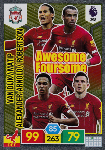 #398 Liverpool Adrenalyn XL Premier League 2019/20 AWESOME FOURSOME