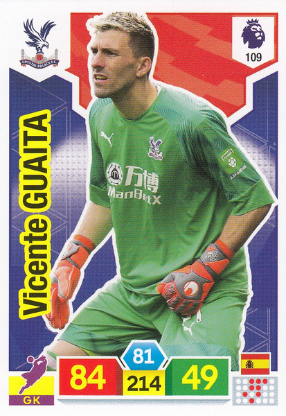 #109 Vicente Guaita (Crystal Palace)  Adrenalyn XL Premier League 2019/20