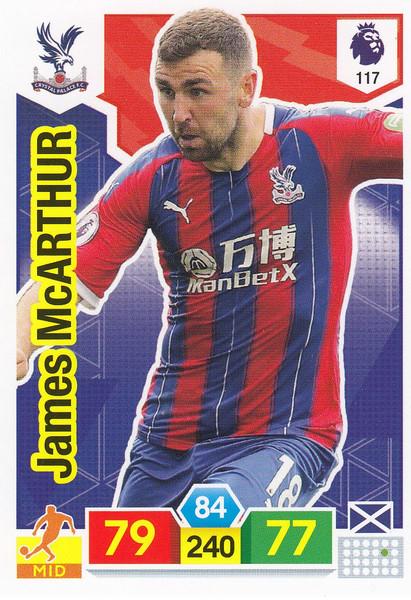 #117 James McArthur (Crystal Palace)  Adrenalyn XL Premier League 2019/20