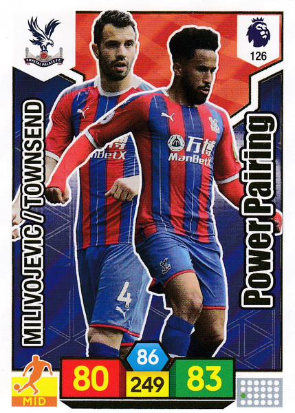#126 Crystal Palace Power Pairing  Adrenalyn XL Premier League 2019/20