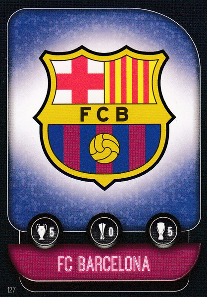#127 FC Barcelona Team Badge Match Attax Champions League 2019/20