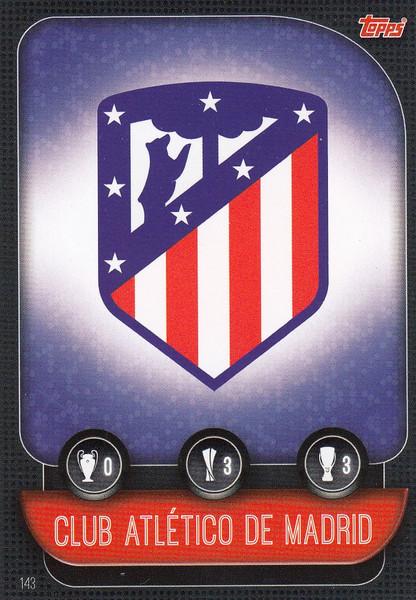 #143 Club Atletico De Madrid Team Badge Match Attax Champions League 2019/20