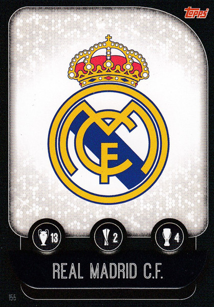 #155 Real Madrid CF Team Badge Match Attax Champions League 2019/20