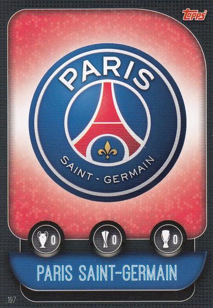 #197 Paris Saint-Germain Team Badge Match Attax Champions League 2019/20