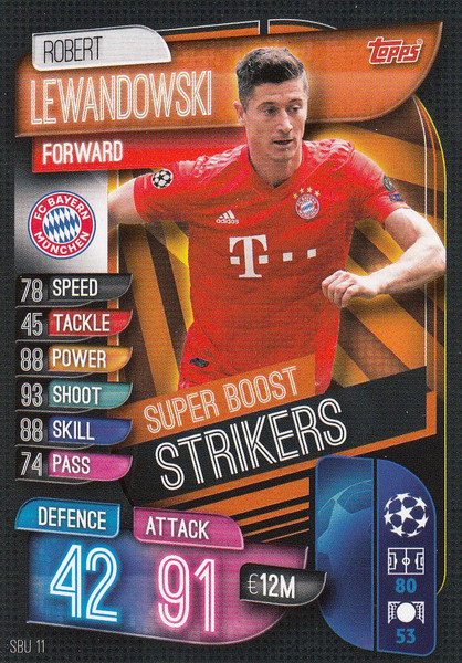 #SBU11 Robert Lewandowski (FC Bayern Munchen) Match Attax Champions League 2019/20 SUPER BOOST STRIKERS