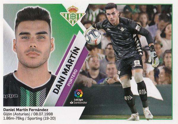 #1 Dani Martin (Real Betis) Coleccion Liga Este 2019-20