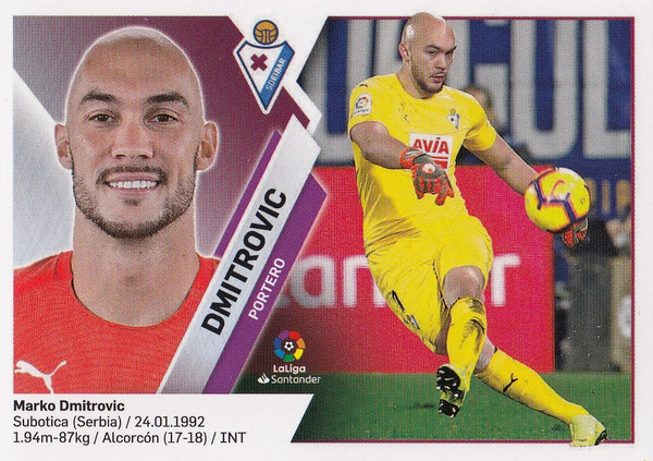 #1 Dmitrovic (SD Eibar) Coleccion Liga Este 2019-20