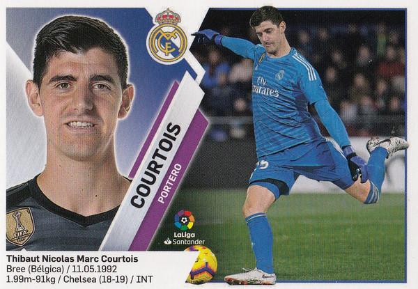 #1 Courtois (Real Madrid) Coleccion Liga Este 2019-20