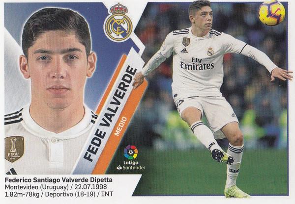 #13B Fede Valverde (Real Madrid) Coleccion Liga Este 2019-20