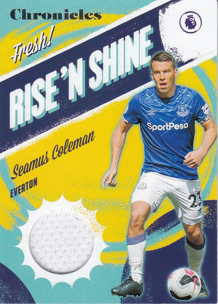 EVERTON Seamus Coleman Panini Chronicles Rise'N Shine Jersey Patch Card